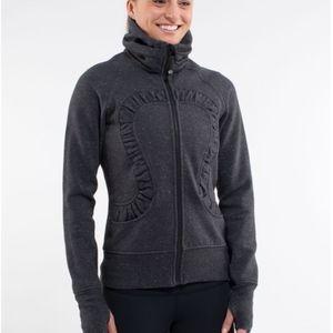 Cuddle Up Full Zip Jacket in Heathered Black